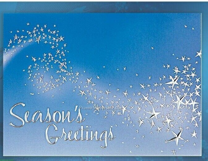 Seasons Greetings Star Trail Holiday Greeting Card After 10 1 29790